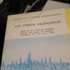 Libros de segunda mano: LOS FUEROS VALENCIANOS.. Lote 117840879