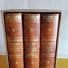 Libros de segunda mano: HISTORIA DE LA CIUDAD Y REINO DE VALENCIA - 3 TOMOS (FACSIMIL). Lote 118884919