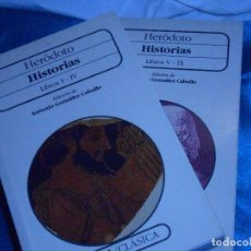 Libros de segunda mano: HERÓDOTO, HISTORIAS / OBRA COMPLETA. Lote 119889167