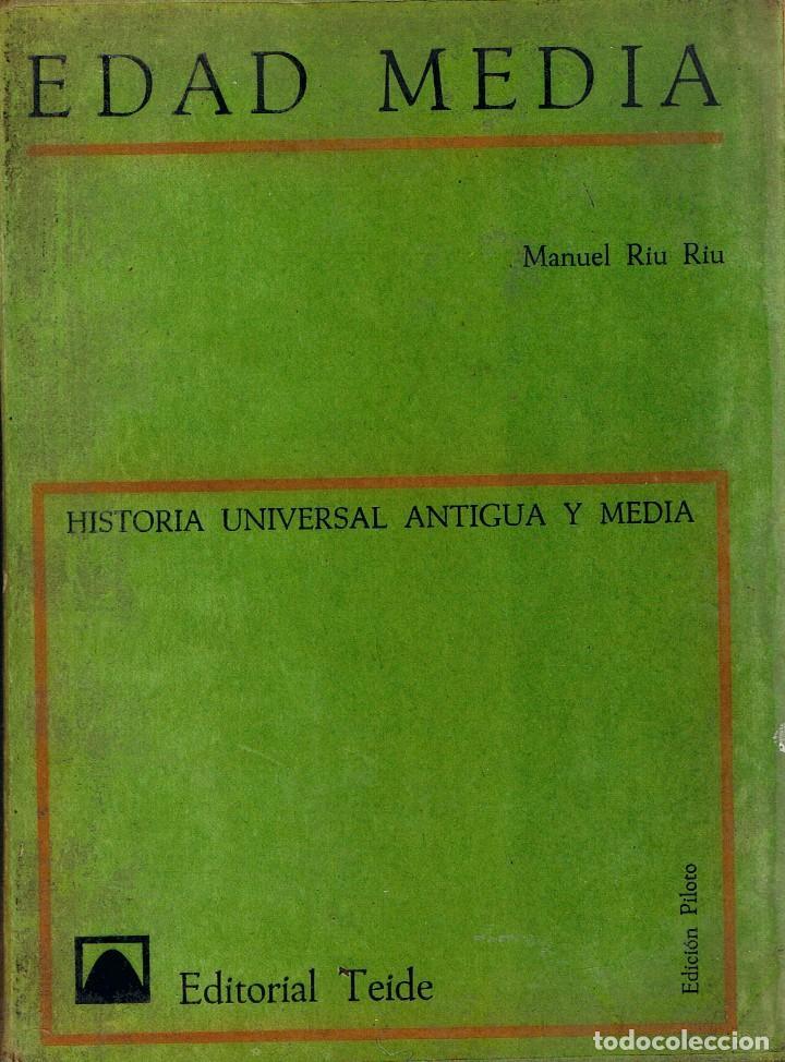 MANUEL RIU RIU; EDAD MEDIA, HISTORIA UNIVERSAL ANTIGUA Y MEDIA (Libros de Segunda Mano - Historia Antigua)