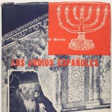 Libros de segunda mano: LOS JUDÍOS ESPAÑOLES. - TORROBA BERNALDO DE QUIRÓS, FELIPE.. Lote 123253655