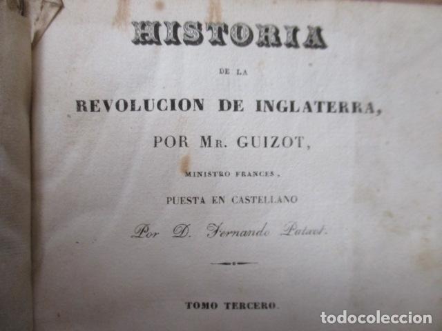 Libros de segunda mano: Historia de la Revolución de Inglaterra. Guizot. 1837. 3 Tomos - Foto 6 - 125224371