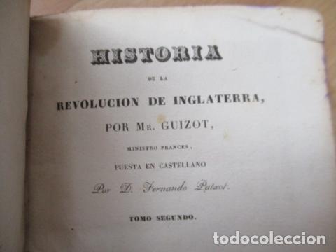 Libros de segunda mano: Historia de la Revolución de Inglaterra. Guizot. 1837. 3 Tomos - Foto 14 - 125224371