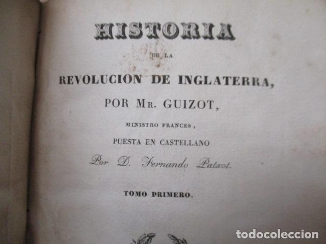 Libros de segunda mano: Historia de la Revolución de Inglaterra. Guizot. 1837. 3 Tomos - Foto 25 - 125224371