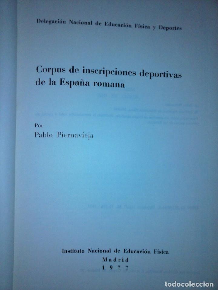 Libros de segunda mano: Corpus de inscripciones deportivas de la España romana - Pablo Piernavieja - Foto 4 - 125402747