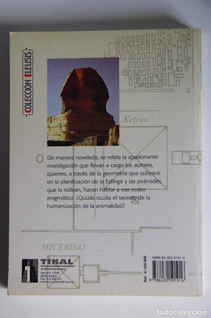 Libros de segunda mano: QUÉ ESCONDE LA ESFINGE DE GIZAH (El secreto que desvela su mundo subterráneo) - Gruais (1ª EDICIÓN) - Foto 2 - 125912407