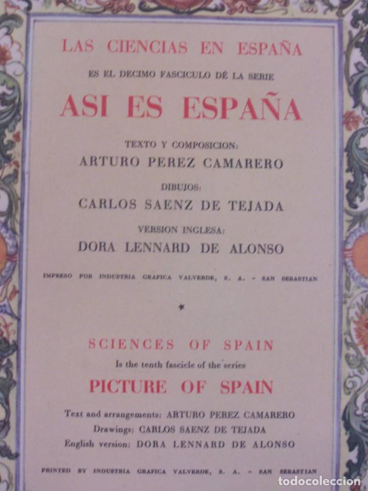Libros de segunda mano: Curioso cuaderno bilingüe profusamente ilustrado por Saenz de Tejada,1951. Las ciencias y los logros - Foto 2 - 126062827