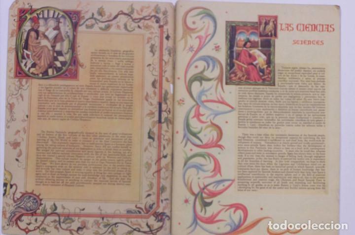 Libros de segunda mano: Curioso cuaderno bilingüe profusamente ilustrado por Saenz de Tejada,1951. Las ciencias y los logros - Foto 3 - 126062827