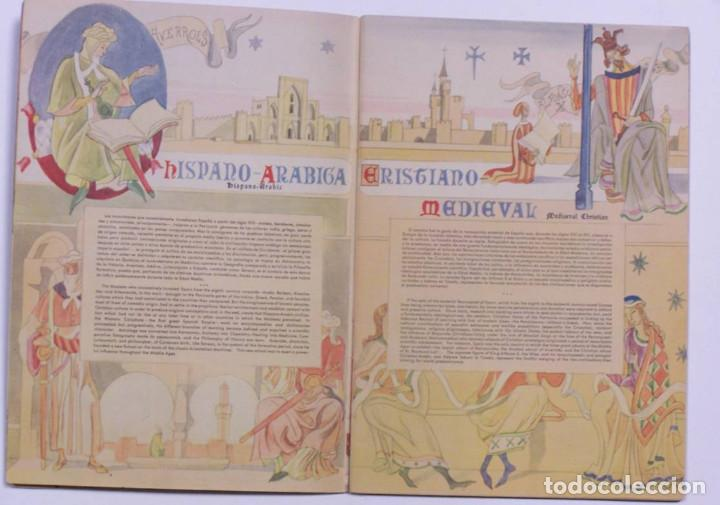 Libros de segunda mano: Curioso cuaderno bilingüe profusamente ilustrado por Saenz de Tejada,1951. Las ciencias y los logros - Foto 4 - 126062827