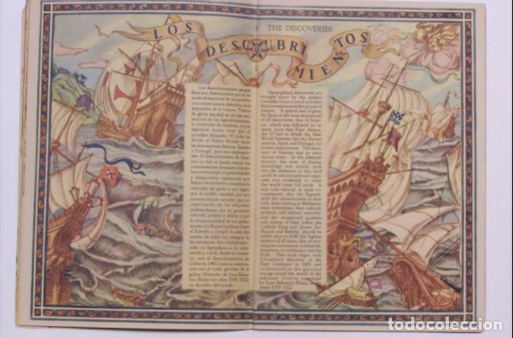 Libros de segunda mano: Curioso cuaderno bilingüe profusamente ilustrado por Saenz de Tejada,1951. Las ciencias y los logros - Foto 5 - 126062827