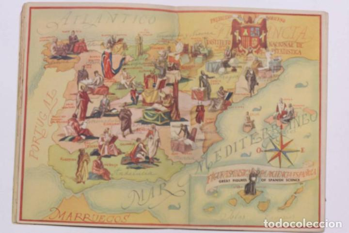 Libros de segunda mano: Curioso cuaderno bilingüe profusamente ilustrado por Saenz de Tejada,1951. Las ciencias y los logros - Foto 7 - 126062827