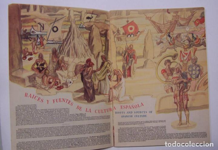 Libros de segunda mano: Curioso cuaderno bilingüe profusamente ilustrado por Saenz de Tejada,1951. Las ciencias y los logros - Foto 8 - 126062827