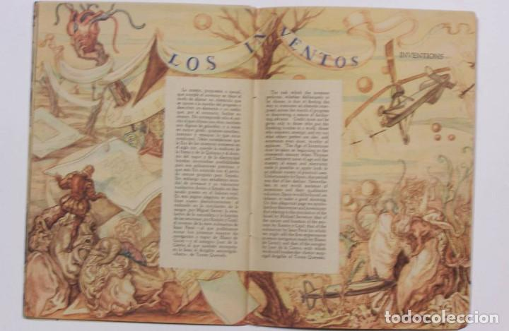 Libros de segunda mano: Curioso cuaderno bilingüe profusamente ilustrado por Saenz de Tejada,1951. Las ciencias y los logros - Foto 9 - 126062827