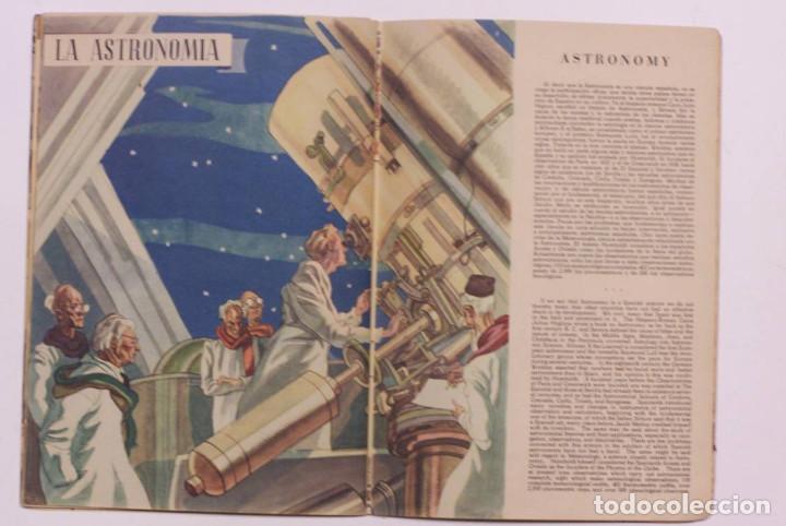 Libros de segunda mano: Curioso cuaderno bilingüe profusamente ilustrado por Saenz de Tejada,1951. Las ciencias y los logros - Foto 10 - 126062827