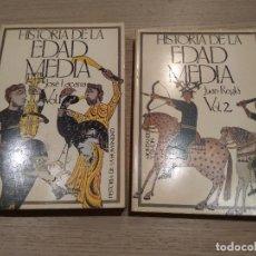 Libros de segunda mano: HISTORIA DE LA EDAD MEDIA. TOMOS VOL 1 Y VOL 2. JUAN REGLA CAMPISTOL. MONTANER Y SIMON. 1978. Lote 126508763