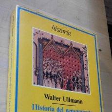 Libros de segunda mano: ULLMANN: HISTORIA PENSAMIENTO POLITICO EN LA EDAD MEDIA, (ARIEL, 1983).. Lote 128145235