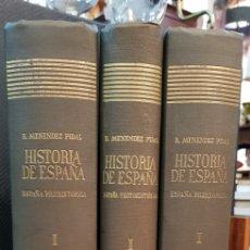 Libros de segunda mano: ESPAÑA PREHISTORICA PROTOHISTORICA Y PRERROMANA TOMO I 3 VOLS MENENDEZ PIDAL. Lote 128361544