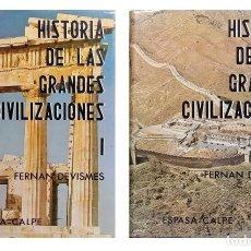 Libros de segunda mano: HISTORIA DE LAS GRANDES CIVILIZACIONES / FERNÁND DEVISMES. MADRID : ESPASA-CALPE, 1989. 2 VOL.. Lote 128529443