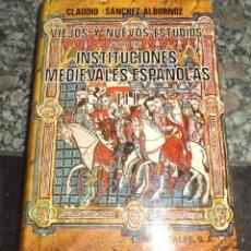 Gebrauchte Bücher - VIEJOS Y NUEVOS ESTUDIOS SOBRE INSTITUCIONES MEDIEVALES ESPAÑOLAS TOMO 3 ÚLTIMOS ESTUDIOS ALBORNOZ - 129112755