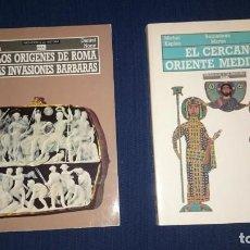 Libros de segunda mano: DE LOS ORIGENES DE ROMA A LAS INVASIONES BARBARAS - EL CERCANO ORIENTE MEDIEVAL -EL MUNDO GRIEGO- 3T. Lote 130063223
