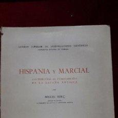Libros de segunda mano: HISPANIA Y MARCIAL. 1953.. Lote 130112615