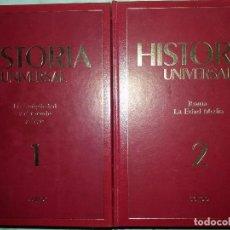 Libros de segunda mano: HISTORIA UNIVERSAL 6 TOMOS SARPE TAPA DURA Y ORO SIN OJEAR. Lote 130946152