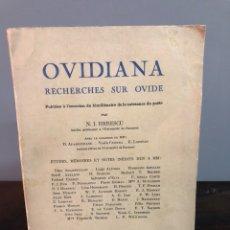 Libros de segunda mano: OVIDIANA, RECHERCHES SUR OVIDE 1958. Lote 133727007