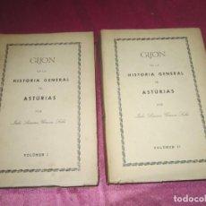 Libros de segunda mano: GIJÓN EN LA HISTORIA GENERAL DE ASTURIAS 2 TOMOS COMPLETA JULIO SOMOZA 1971. Lote 134235606