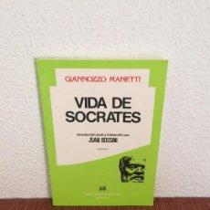 Libros de segunda mano: VIDAS DE SÓCRATES - GIANNOZZO MANETTI - ED. CLÁSICAS. Lote 135553642