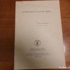 Libros de segunda mano: HISTORIA DE LA VILLA DE TUDELA NAVARRA. Lote 139571386