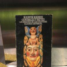 Libros de segunda mano: LOS ORIGENES DE LAS CULTURAS. MARVIN HARRIS, CANIBALES Y REYES. ALIANZA EDITORIAL. 293 PAGS. Lote 140160914