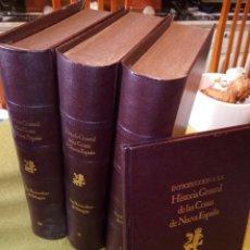 Libros de segunda mano: HISTORIA GENERAL DE LAS COSAS DE NUEVA ESPAÑA DE FRAY BERNARDINO SAHAGUN. Lote 140641774