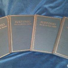 Libros de segunda mano: LOS 4 VOLÚMENES DE SUETONIO VIDA DE LOS DOCE CESARES 1964-1970. Lote 141596112