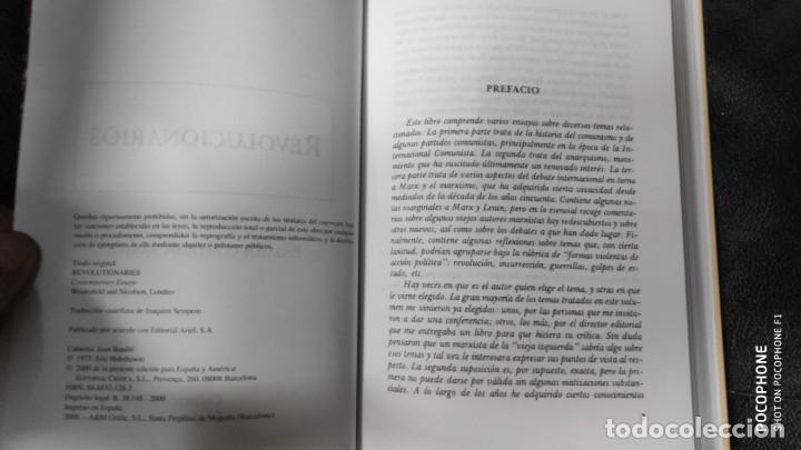 Libros de segunda mano: REVOLUCIONARIOS ( ERIC HOBSBAWM ) - Foto 4 - 142893682