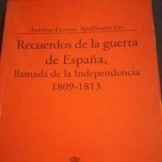Libros de segunda mano: RECUERDOS DE LA GUERRA DE ESPAÑA LLAMADA DE LA INDEPENDENCIA 1809-1813.. Lote 143758481