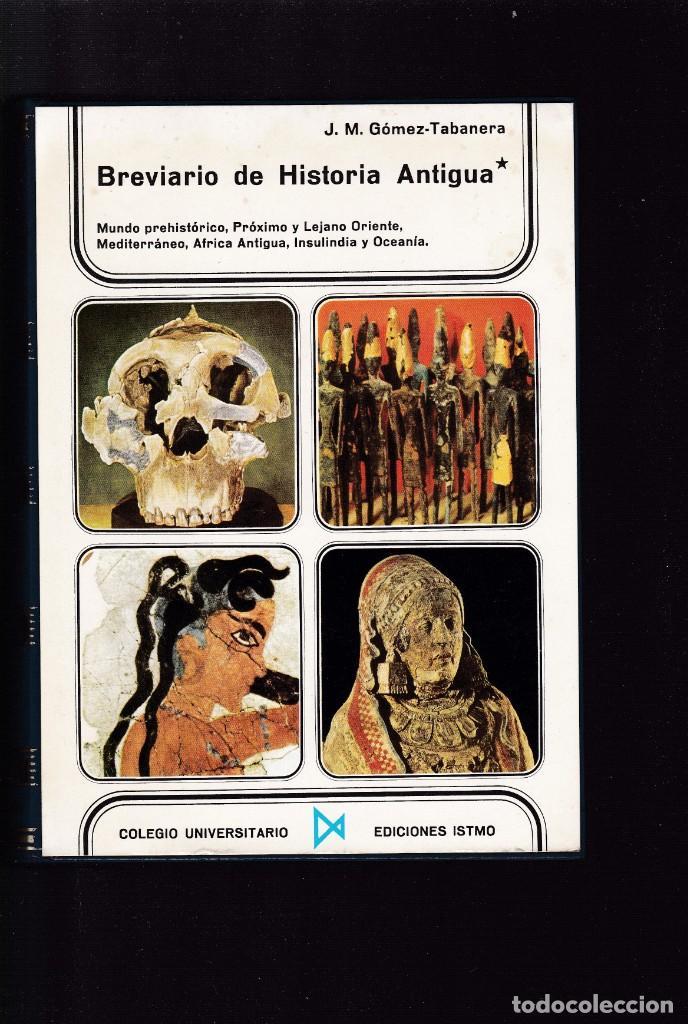 BREVIARIO DE HISTORIA ANTIGUA - J.M.GÓMEZ-TABANERA - ISTMO EDITORIAL 1973 / ILUSTRADO (Libros de Segunda Mano - Historia Antigua)