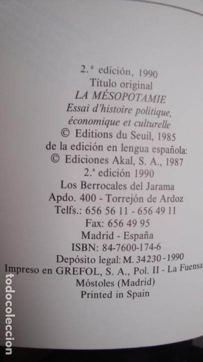 Libros de segunda mano: Mesopotamia. Historia política, económica y cultural. Georges Roux. Akal/Universitaria 1987. - Foto 2 - 141342218