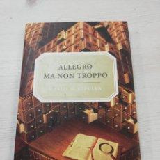 Libros de segunda mano: CARLO M. CIPOLLA, ALLEGRO MA NON TROPPO. Lote 144646898