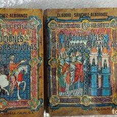 Gebrauchte Bücher - Viejos y nuevos estudios sobre las instituciones medievales españolas. Cláudio sanchez-albornoz - 144879606