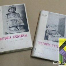 Libros de segunda mano: BALLESTEROS, M./ALBORG, J.L.: HISTORIA UNIVERSAL. I:HASTA EL SIGLO XIII. II:DESDE EL SIGLO XIII.... Lote 144934562