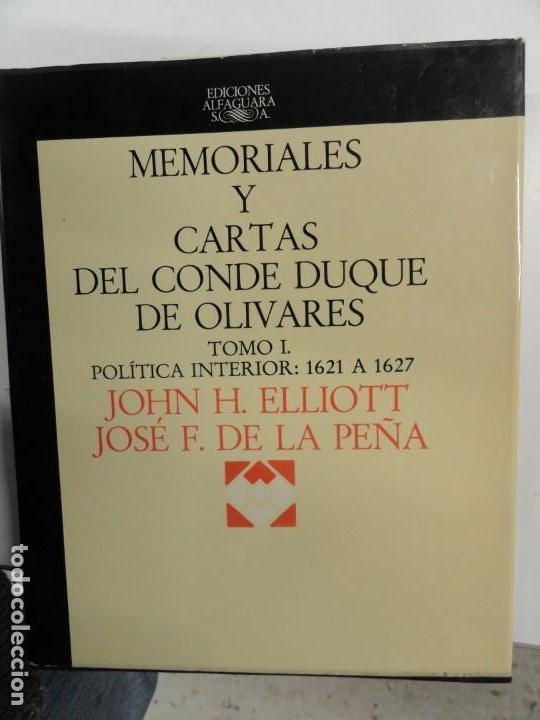 MEMORIALES Y CARTAS DEL CONDE DUQUE DE OLIVARES TOMO I - ELLIOTT Y DE LA PEÑA (Libros de Segunda Mano - Historia Antigua)