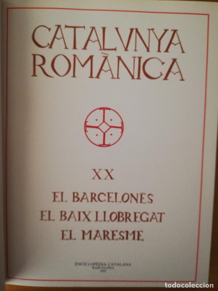 Libros de segunda mano: CATALUNYA ROMÀNICA. XX EL BARCELONÈS, EL BAIX LLOBREGAT, EL MARESME (ENCICLOPÈDIA CATALANA) - Foto 3 - 149188750