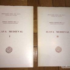 Libros de segunda mano: ALAVA MEDIEVAL (2 VOL). Lote 149211674