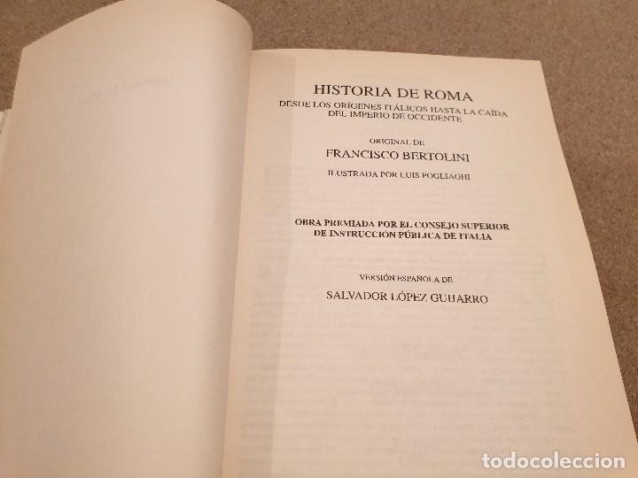 Libros de segunda mano: HISTORIA DE ROMA....... ..FRANCISCO BERTOLINI......1999 - Foto 6 - 150257230