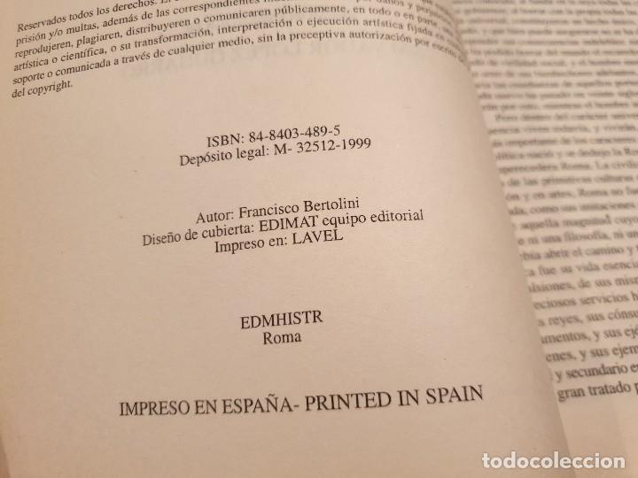 Libros de segunda mano: HISTORIA DE ROMA....... ..FRANCISCO BERTOLINI......1999 - Foto 7 - 150257230