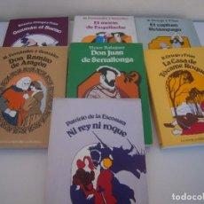 Libros de segunda mano: LOTE DE LIBROS LA NOVELA HISTORICA ESPAÑOLA EDITORIAL TEBAS. Lote 150562502