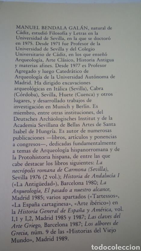 Gebrauchte Bücher: LA ANTIGUEDAD DE LA PREHISTORIA A LOS VISIGODOS - MANUEL BENDALA GALAN - SILEX 1990 - Foto 3 - 152344146