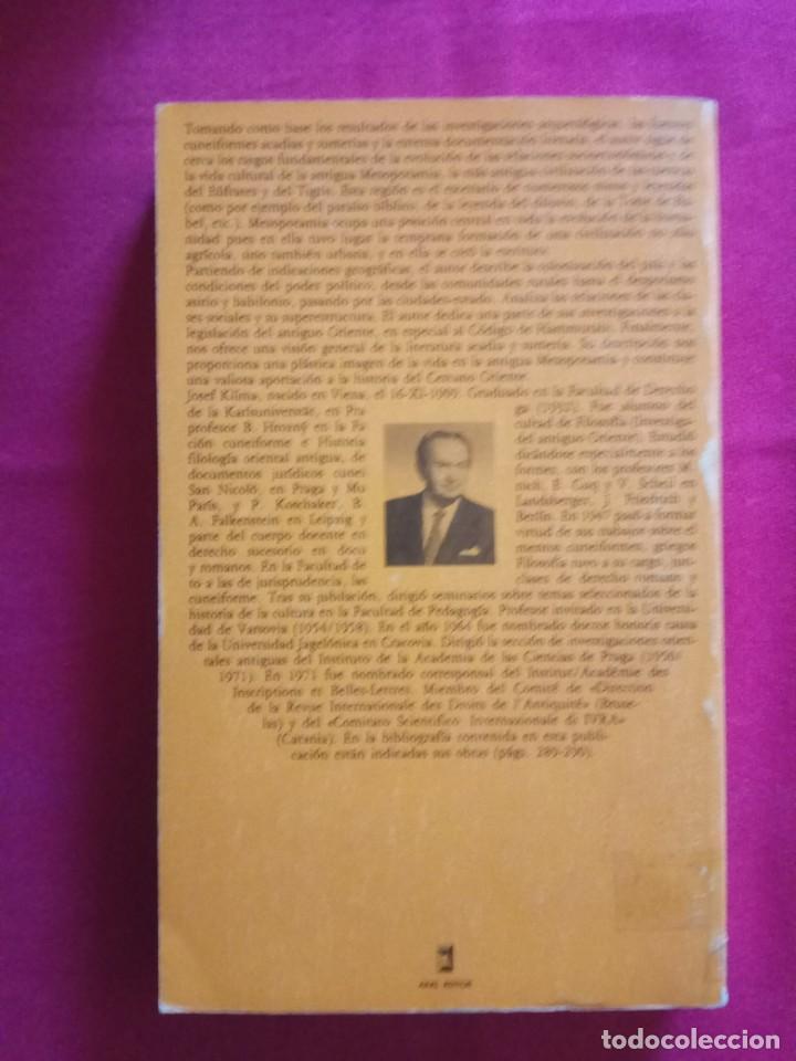 Libros de segunda mano: Sociedad y cultura en la antigua Mesopotamia -Josef Klíma. Akal - Foto 3 - 152362070