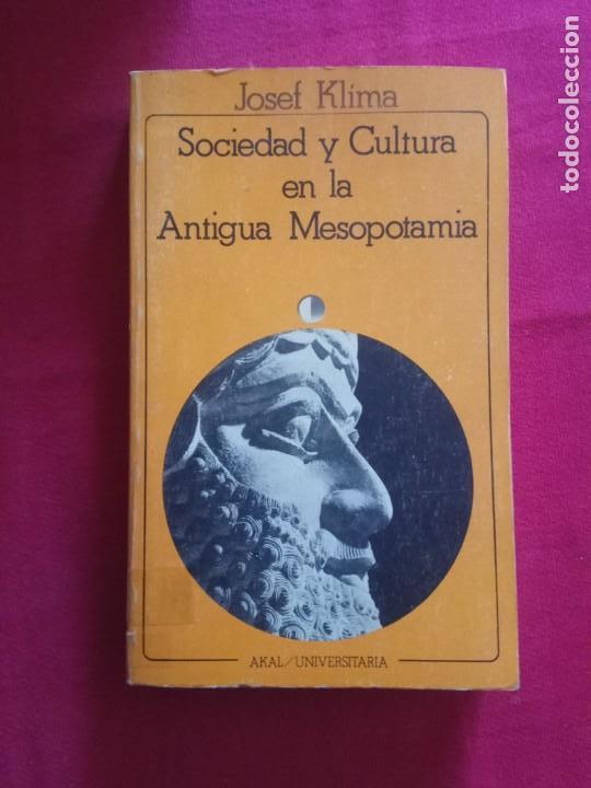 SOCIEDAD Y CULTURA EN LA ANTIGUA MESOPOTAMIA -JOSEF KLÍMA. AKAL (Libros de Segunda Mano - Historia Antigua)
