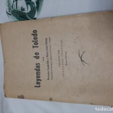 Libros de segunda mano: LEYENDAS DE TOLEDO. MERCEDES CAUDEVILLA Y Mª LUISA VALLEJO. CUENCA. IMPRENTA FALANGE. 1955. Lote 153149474